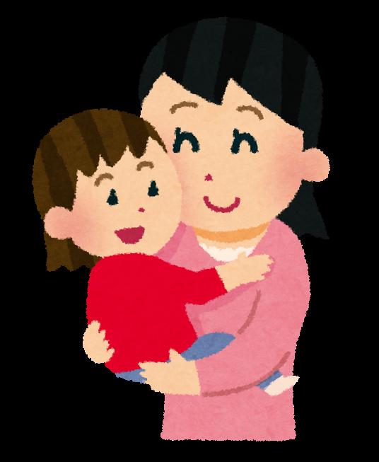 女の子を抱っこするママ