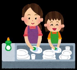 お皿洗いお手伝い