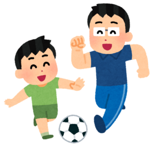 サッカー親子